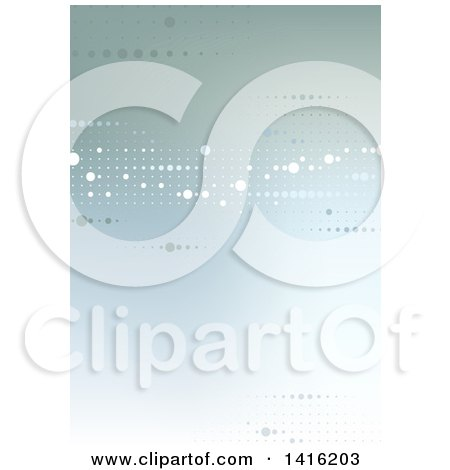Clipart of a Background or Backdrop of Dts on Gradient Green - Royalty Free Vector Illustration by dero