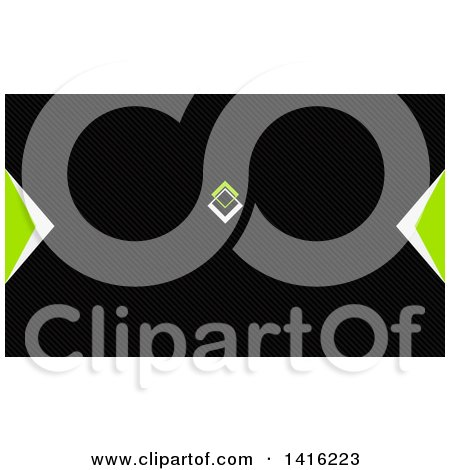 Clipart of a Green Black and White Business Card Design or Website Background - Royalty Free Vector Illustration by KJ Pargeter