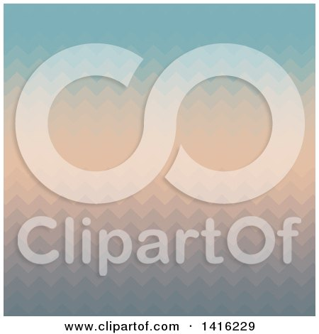 Clipart of a Gradient Zig Zag Background - Royalty Free Vector Illustration by KJ Pargeter