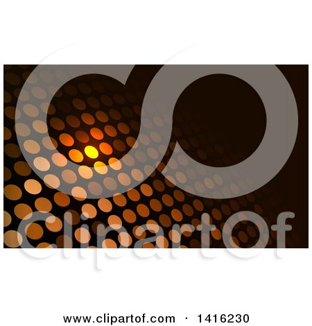 Glowing Dot and Black Business Card Design or Website Background Posters, Art Prints