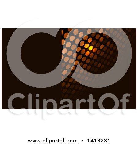 Clipart of a Glowing Dot and Black Business Card Design or Website Background - Royalty Free Vector Illustration by KJ Pargeter