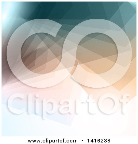 Clipart of a Geometric Abstract Background - Royalty Free Vector Illustration by KJ Pargeter