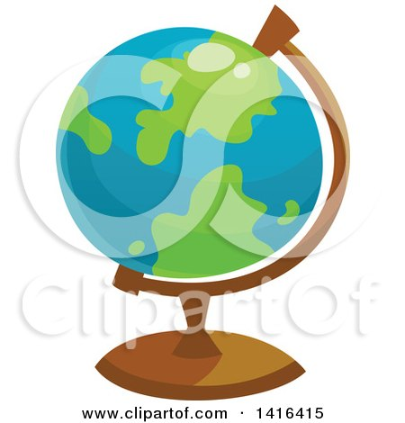 Clipart of a Desk Globe - Royalty Free Vector Illustration by Vector Tradition SM