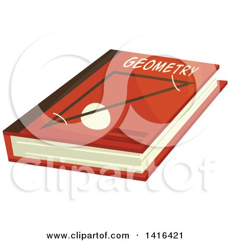 Clipart of a Geometry Book - Royalty Free Vector Illustration by Vector Tradition SM