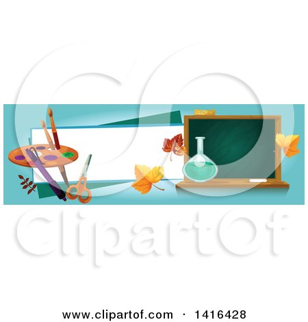 Clipart of a Back to School Banner - Royalty Free Vector Illustration by Vector Tradition SM