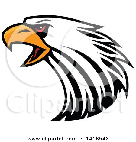 Clipart Tribal Black And White Falcon Eagle Or Hawk ...