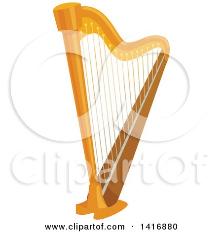 Clipart of a Harp - Royalty Free Vector Illustration by Vector Tradition SM