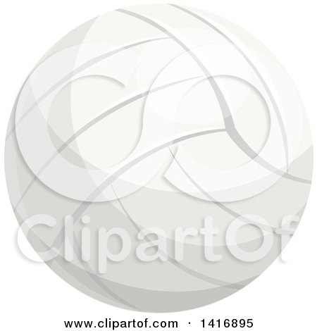 Clipart of a Volleyball - Royalty Free Vector Illustration by Vector Tradition SM