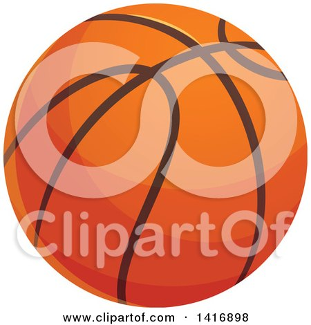 Clipart of a Basketball - Royalty Free Vector Illustration by Vector Tradition SM