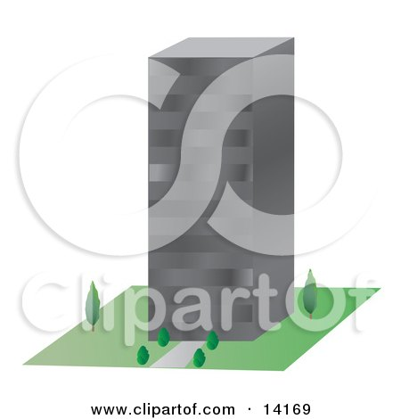 Comercial City Building Clipart Illustration by Rasmussen Images