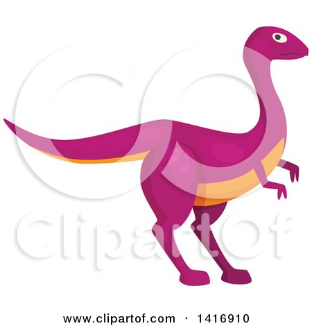 Clipart of a Pink Raptor Dinosaur - Royalty Free Vector Illustration by Vector Tradition SM
