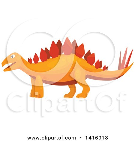Clipart of a Stegosaurus Dinosaur - Royalty Free Vector Illustration by Vector Tradition SM