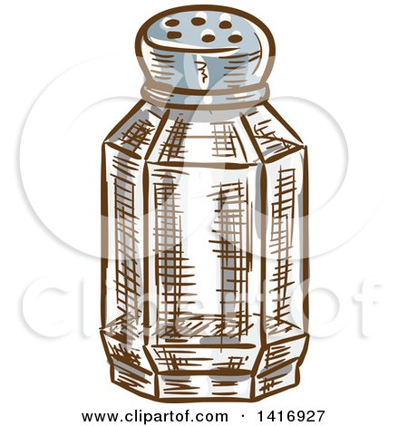 Clipart of a Sketched Salt Shaker - Royalty Free Vector Illustration by Vector Tradition SM
