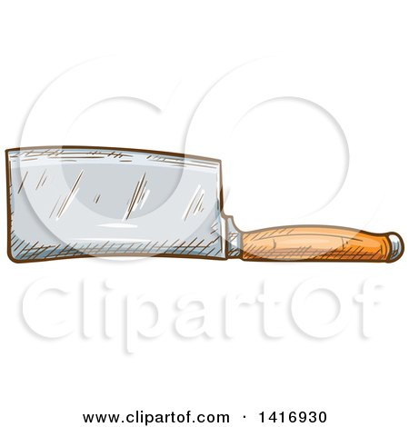Clipart of a Sketched Knife - Royalty Free Vector Illustration by Vector Tradition SM