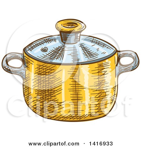Clipart of a Sketched Pot - Royalty Free Vector Illustration by Vector Tradition SM