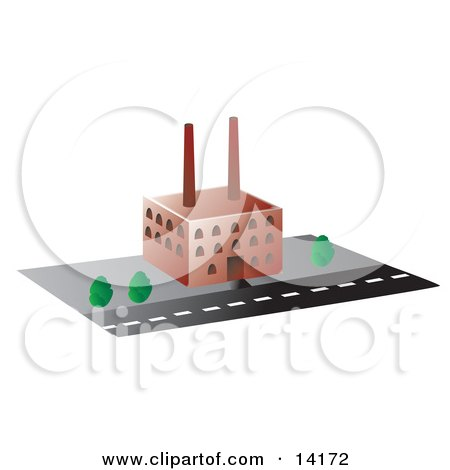 Factory Building Clipart Illustration by Rasmussen Images