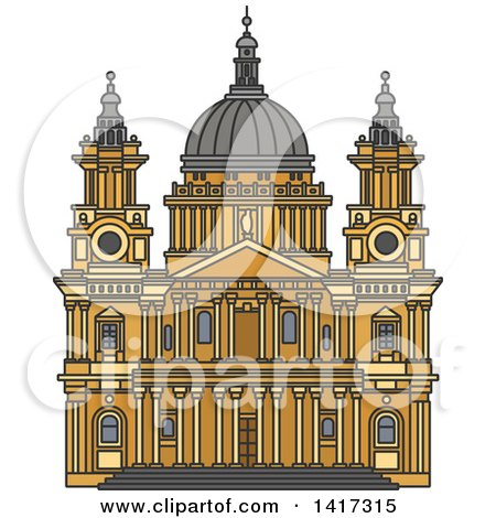 Royalty Free Rf St Pauls Cathedral Clipart