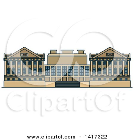Clipart of a German Landmark, Pergamon Museum - Royalty Free Vector Illustration by Vector Tradition SM