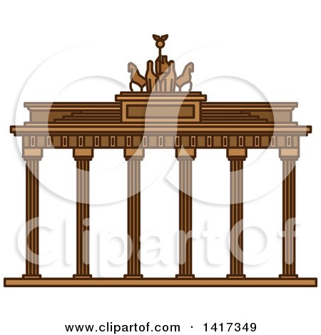 Clipart of a German Landmark, Brandenburg Gate - Royalty Free Vector Illustration by Vector Tradition SM