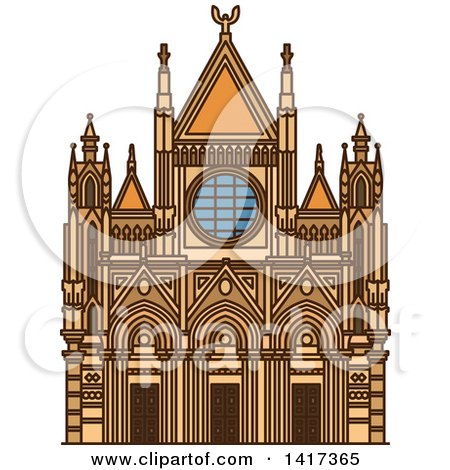 Clipart of a Italian Landmark, Siena Cathedral - Royalty Free Vector Illustration by Vector Tradition SM