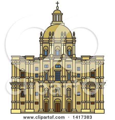 Clipart of a Portuguese Landmark, Church of Santa Engracia - Royalty Free Vector Illustration by Vector Tradition SM