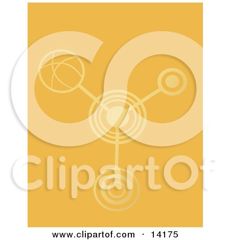 Crop Circles in an Orange Crop Clipart Illustration by Rasmussen Images