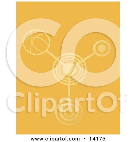 Crop Circles In An Orange Crop Clipart Illustration