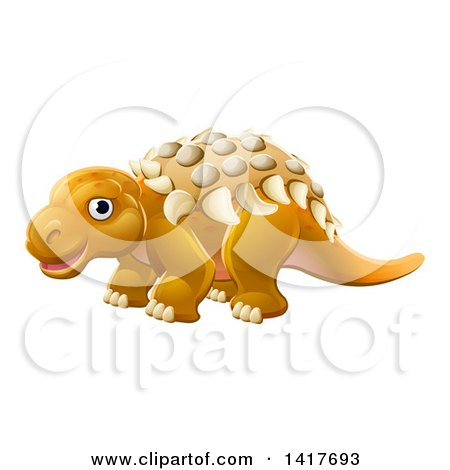 Clipart of a Cute Edmontonia Dinosaur - Royalty Free Vector Illustration by AtStockIllustration