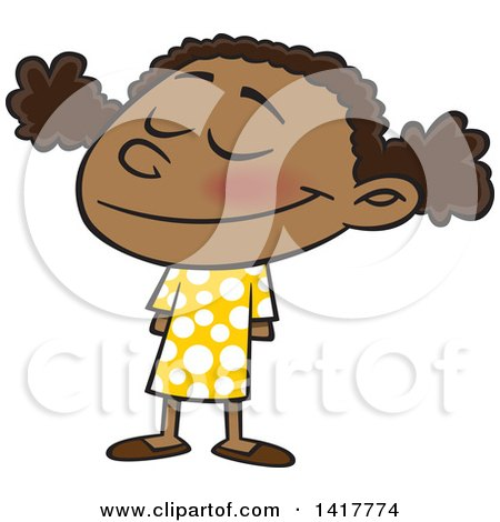 Free RF Clip Art Illustration Of A Stressed Cartoon School Girl