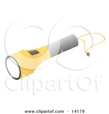 Gray and Yellow Flashlight Clipart Illustration by Rasmussen Images