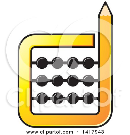 Clipart of a Pencil Abacus - Royalty Free Vector Illustration by Lal Perera