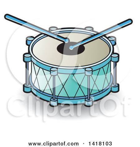 Clipart of a Drum - Royalty Free Vector Illustration by Lal Perera