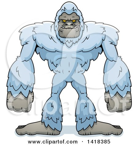 Cartoon Clipart of a Yeti Abominable Snowman - Royalty Free Vector Illustration by Cory Thoman