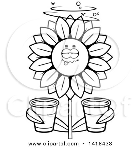 Clipart Talking Sunflower Character - Royalty Free Vector Illustration by Cory Thoman ...