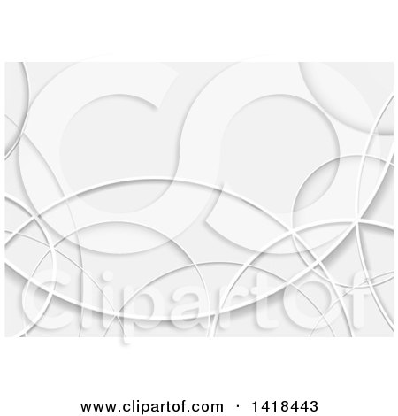 Clipart Of A Background of Gray Swooshes - Royalty Free Vector Illustration by dero