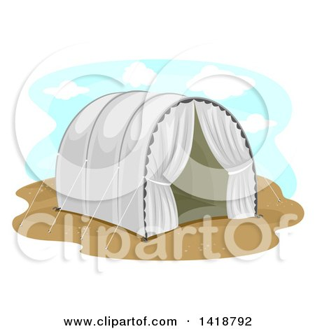 Clipart of a Refugee Camp Tent - Royalty Free Vector Illustration by BNP Design Studio
