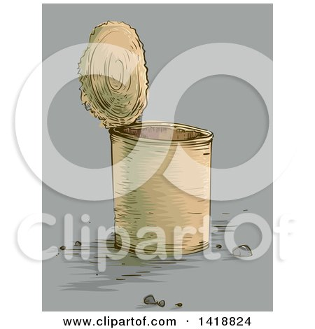 Clipart of a Food Can - Royalty Free Vector Illustration by BNP Design Studio