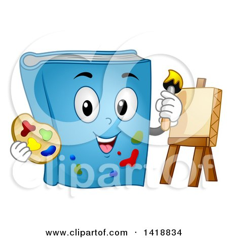 Blue Book Mascot Painting on Canvas Posters, Art Prints