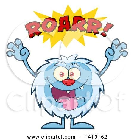 Cartoon Yeti Abominable Snowman Roaring Posters, Art Prints