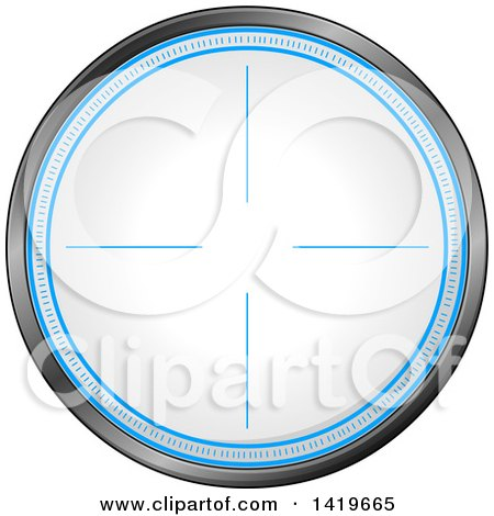 Clipart of a Round Rifle or Sniper Scope - Royalty Free Vector Illustration by Liron Peer