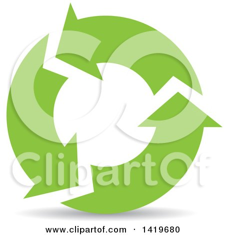 Clipart of Green Recycle Arrows - Royalty Free Vector Illustration by cidepix