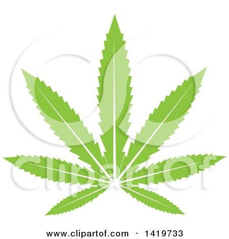Green Marijuana Pot Leaf Posters, Art Prints