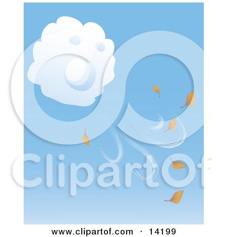 Clip Art Leaves Blowing