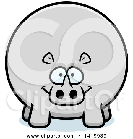 Cartoon Chubby Rhino Posters, Art Prints