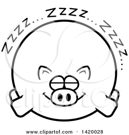 Royalty Free Stock Illustrations of Pigs by Cory Thoman Page 1