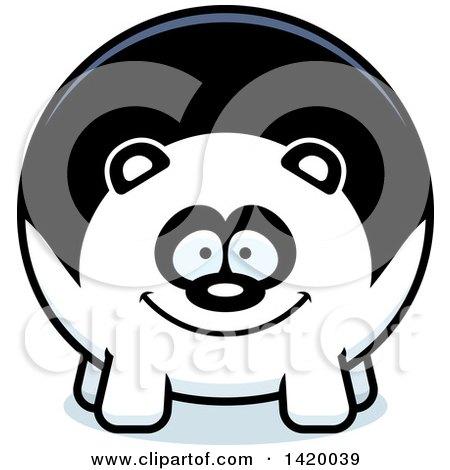 Clipart of a Cartoon Chubby Panda - Royalty Free Vector Illustration by Cory Thoman