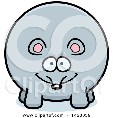 Clipart of a Cartoon Chubby Mouse - Royalty Free Vector Illustration by Cory Thoman