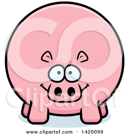 Clipart of a Cartoon Chubby Hippo - Royalty Free Vector Illustration by Cory Thoman