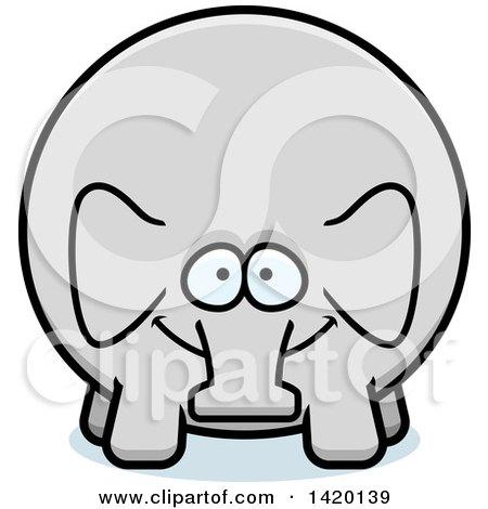 Clipart of a Cartoon Chubby Elephant - Royalty Free Vector Illustration by Cory Thoman