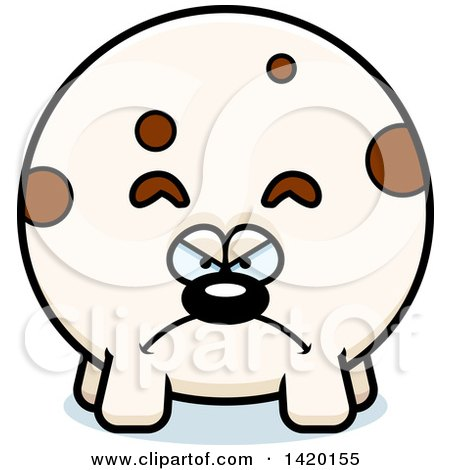 Clipart of a Cartoon Mad Chubby Dog - Royalty Free Vector Illustration by Cory Thoman